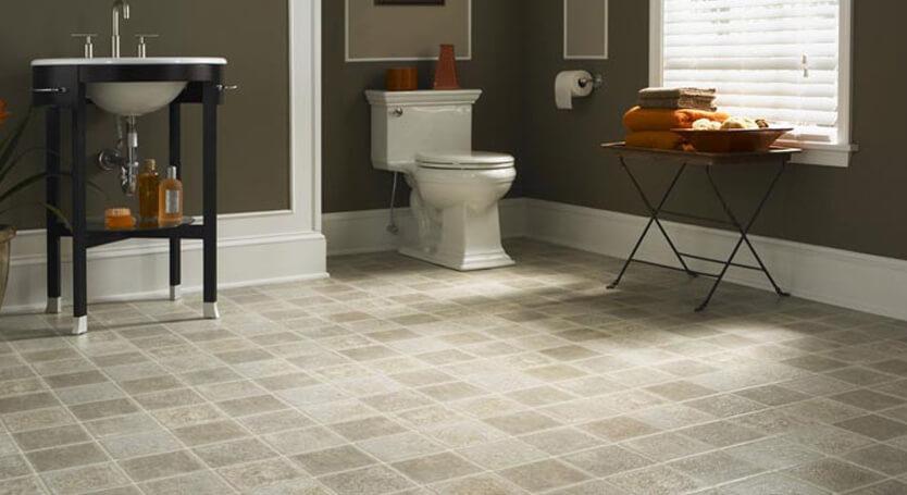 Vinyl flooring bath