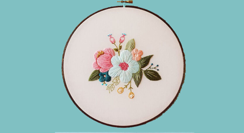 Vintage-Inspired Embroidery Hoop Art